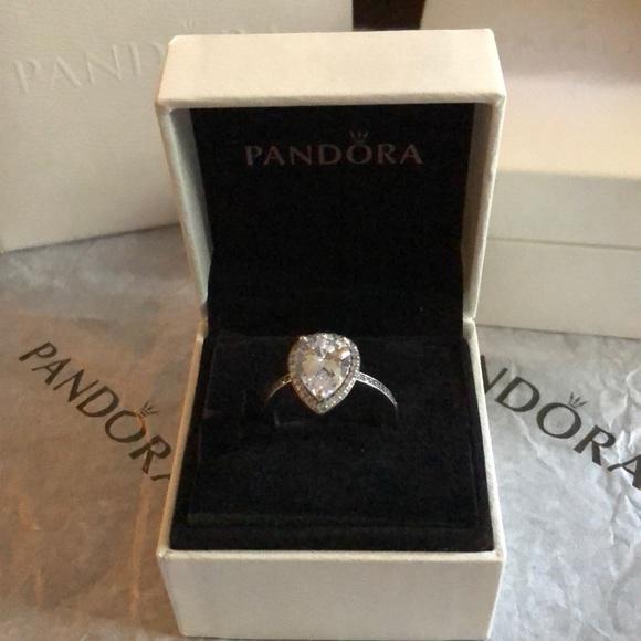 0f7ab5536 Pandora Jewelry | Radiant Teardrop Ring Clear Cz | Poshmark